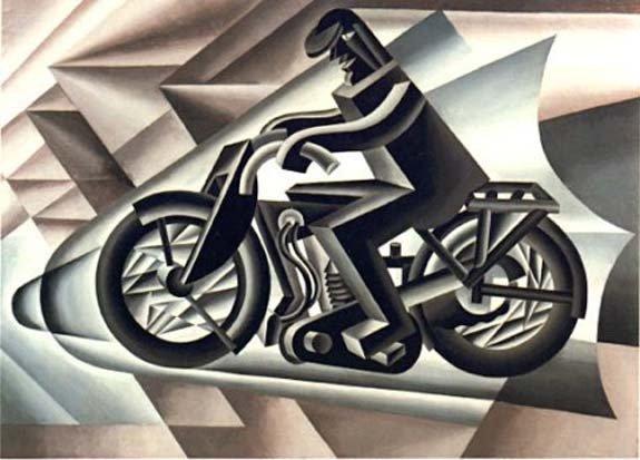 depero fortunato 1923 il motociclista
