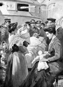 La Regina Elena di Montenegro si prende cura dei superstiti
